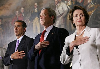 John Boehner, Nancy Pelosi, George Walker Bush.