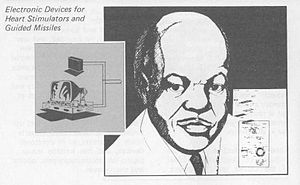English: Ink drawing of Otis Boykins, from a U...