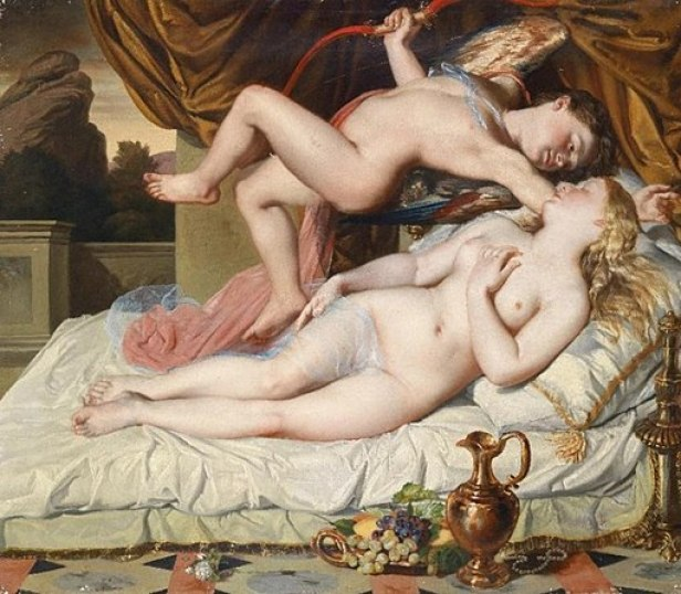"""""""Cupid and Psyche"""" by Károly Brocky"""