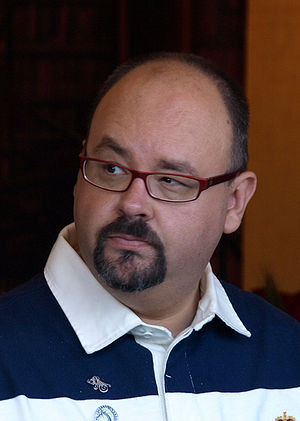 Spanish writer: Carlos Ruiz Zafón in Barcelona