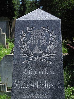 Part of gravestone in Sighişoara (Schäßburg, S...