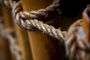 Hemp rope at the Dallas, Texas, U.S.A. World A...
