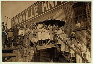 Workers at the Knoxville Knitting Works in Kno...