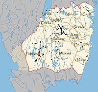 Anciennes divisions de la province suédoise de Smaland