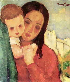 Română: Nicolae Tonitza (1886 - 1940) - Mama ş...