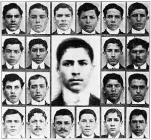 English: Composite photos of Latin American st...