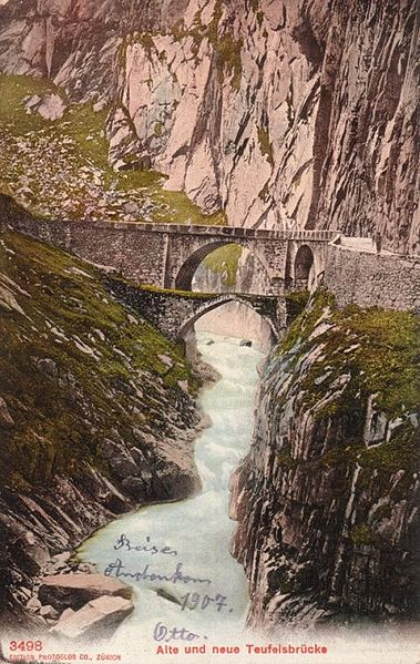 File:Postcard First and Second Devils Bridge Uri.jpg