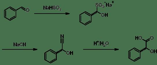 Preparation of mandelic acid.png