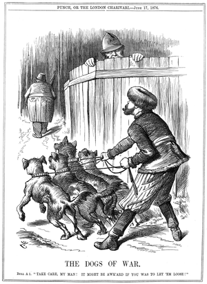 """The Dogs of War"" - a Punch cartoon ..."