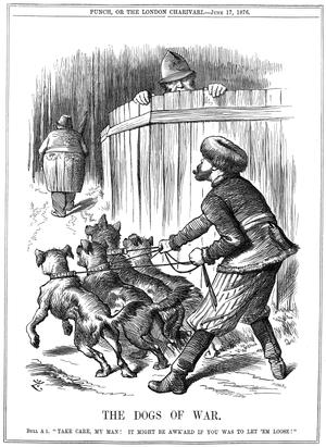 """The Dogs of War"" - a Punch cartoon ..."