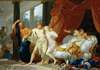 Regnault Socrates Tears Alcibiades from the Em...