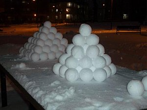 A collection of snowballs.