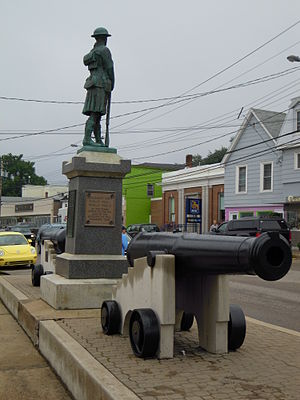 Soldier's Cenotaph on Water Street, Digby, Nov...