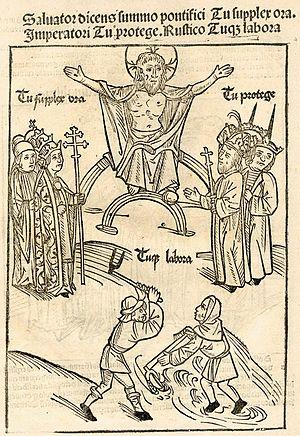 English: German illustration of the three esta...