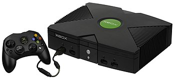 English: The Xbox console with the S controlle...