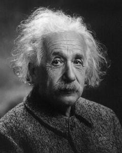Albert Einstein Français : portrait d'Albert E...