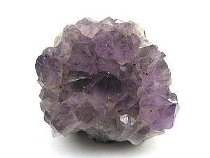 Macro of Amethyst Quartz. It is 3 inches (8 cm...