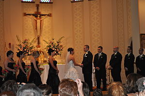 English: A Catholic wedding ceremony in Milwau...