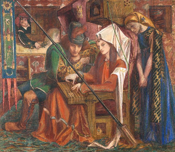 File:Dante Gabriel Rossetti The Tune of Seven Towers.jpg
