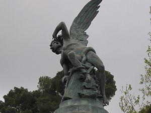 Detalle del Ángel caido