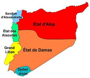 Français : Carte des zones autonomes sous le m...