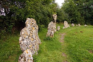 English: The north section of the Rollright Stones
