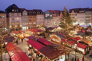 English: Weihnachtsmarkt (Christmas market) in...