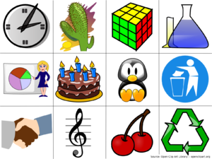 Examples of computer clip art.