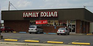 Self-made photo of the Family Dollar Store loc...