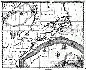 Earliest known map of the Gulf Stream