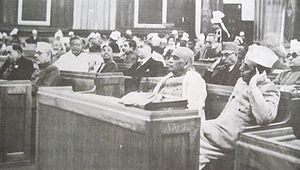 First day of Constituent Assembly of India. Fr...