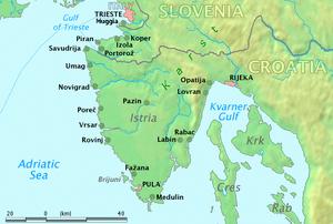 The Istrian peninsula, the originary homeland ...
