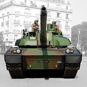 English: AMX-56 Leclerc in Paris streets on 14...