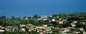 View on the village Makri, Evros, Greece