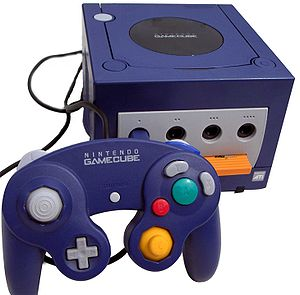 Photo of the console 128 bits Nintendo GameCube.