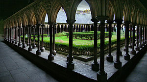 Abbey of Mont-Saint-Michel, Manche, Normandie,...