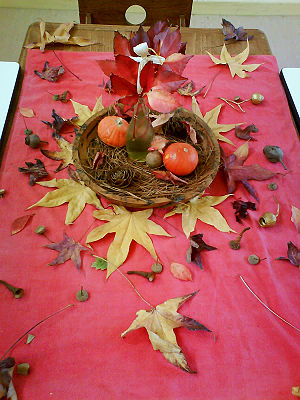 Autumn mandala for the table at a Steiner (Wal...
