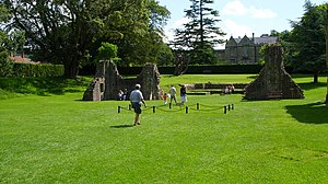 English: The grave of King Arthur, Glastonbury...