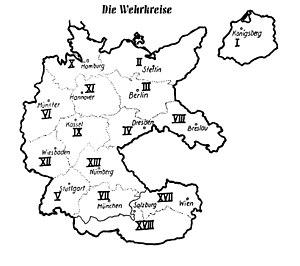 Wehrkreise des Deutschen Reiches 1939
