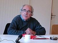 Jean Baudrillard lecturing at European Graduat...
