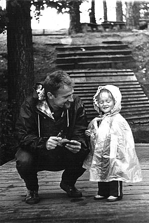 Father and daughter, Poland