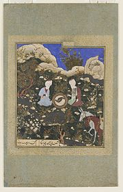 Al-Khidr and Alexander watch the Water of Life revive a salted fish