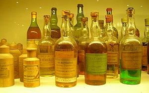 English: Counterfeits of Chartreuse liquors, e...