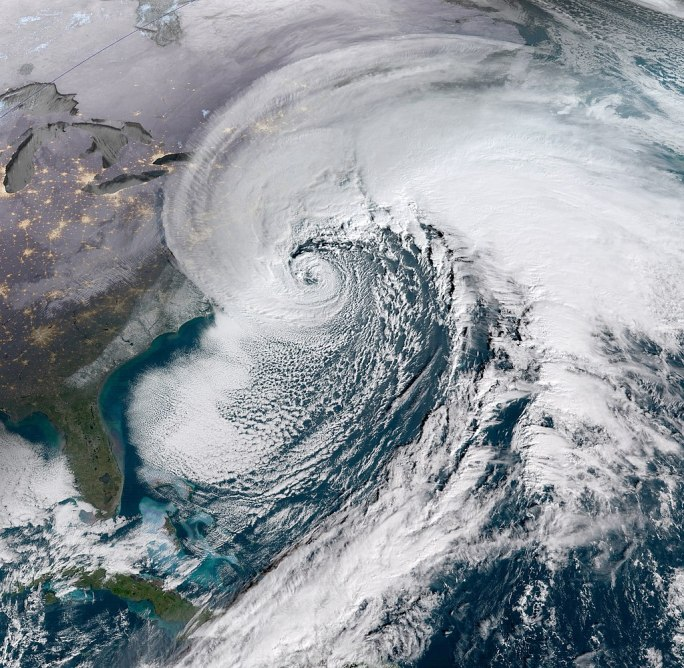 Early January 2018 Nor'easter 2018-01-04 1345Z