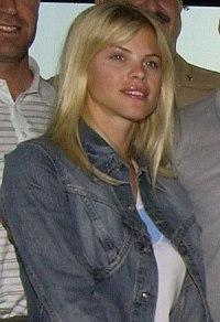 English: Swedish model Elin Nordegren, fiancee...