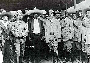 Emiliano Zapata and his staff together with Ge...