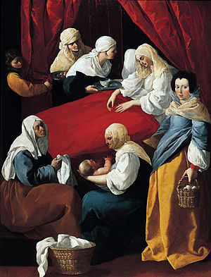 Francisco de Zurbarán, The Birth of the Virgin...