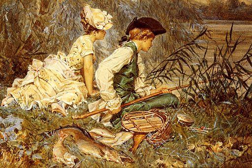 Frederick Hendrik Kaemmerer - An Afternoon Of Fishing