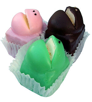 A set of three frog cakes from Balfours