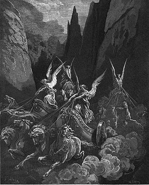 Zechariah's vision of the four horsemen (Zecha...